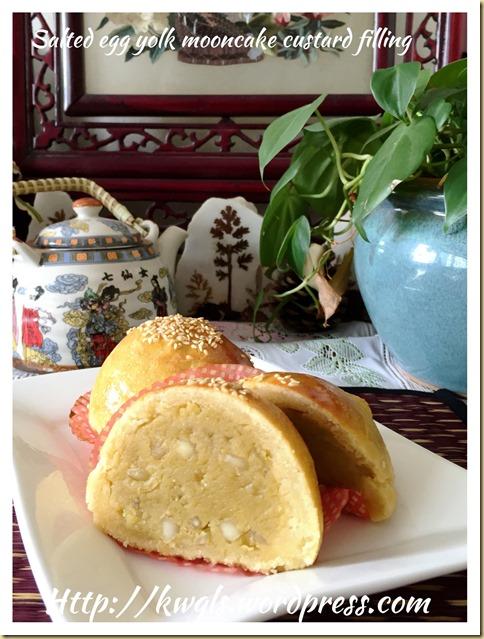 Salted Egg Yolk Custard Moon Cake Fillings (咸蛋奶皇月饼馅料)