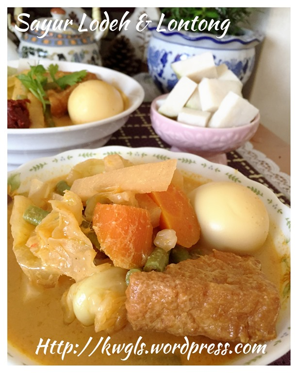 Sayur Lodeh And Lontong (蔬菜咖喱和米糕) GUAI SHU SHU
