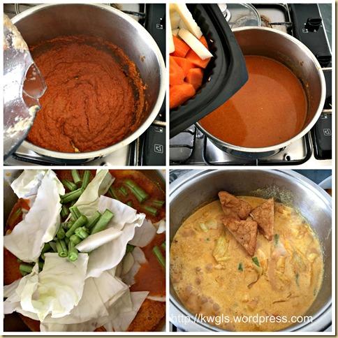 Sayur Lodeh And Lontong (蔬菜咖喱和米糕)
