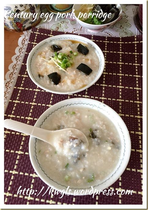 Century Egg Pork Congee (皮蛋瘦肉粥)