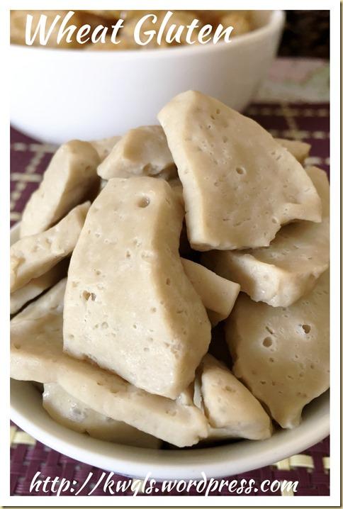 Wheat Gluten (Mian Jin, 面筋, Seitan, Mi Chiya)