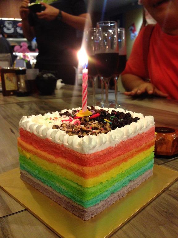 Rainbow Steamed Sponge Cake Guai Shu Shu