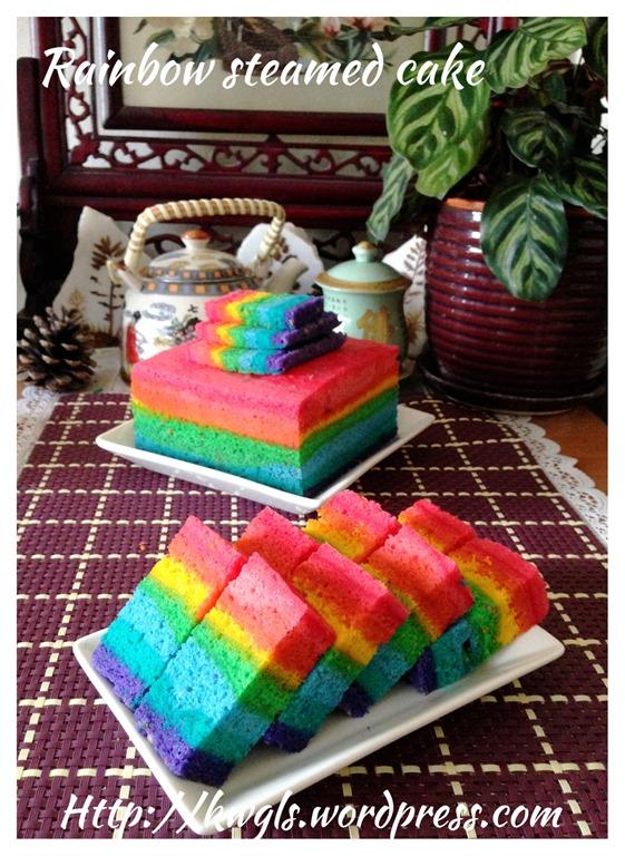 Malaysian rainbow cake recipe