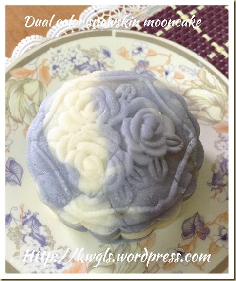 Dual Tone Snow Skin Moon Cake Using Natural Colour (双色调冰皮月饼)