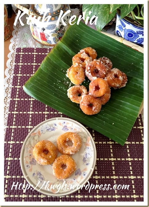 Sweet Potatoes Donuts aka Kuih Keria (甜薯圈)