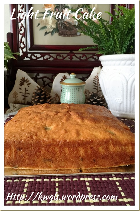 Light Fruit Cake (轻杂果蛋糕)