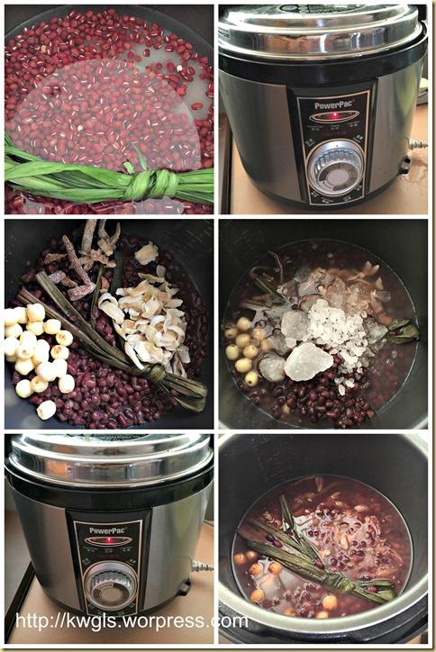 Adzuki beans Lotus Seeds Soup (莲子百合红豆沙)