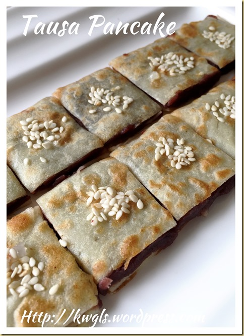 Chinese Red Bean Paste Pancake (tausa pancake or 豆沙锅饼)