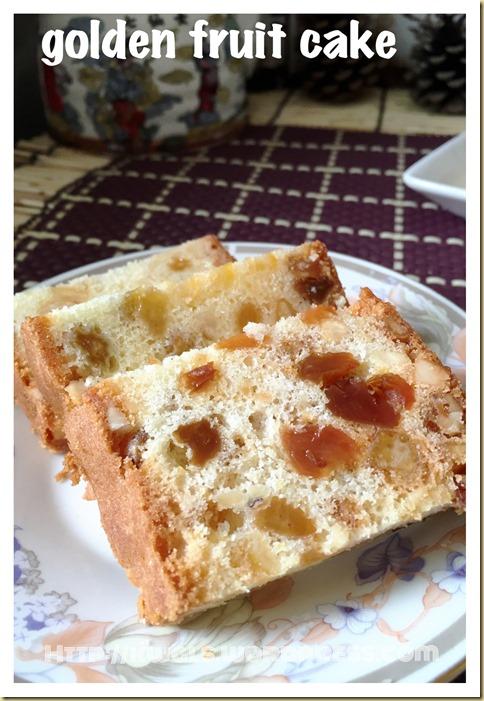 Golden Fruit Cake (黄金杂果蛋糕)