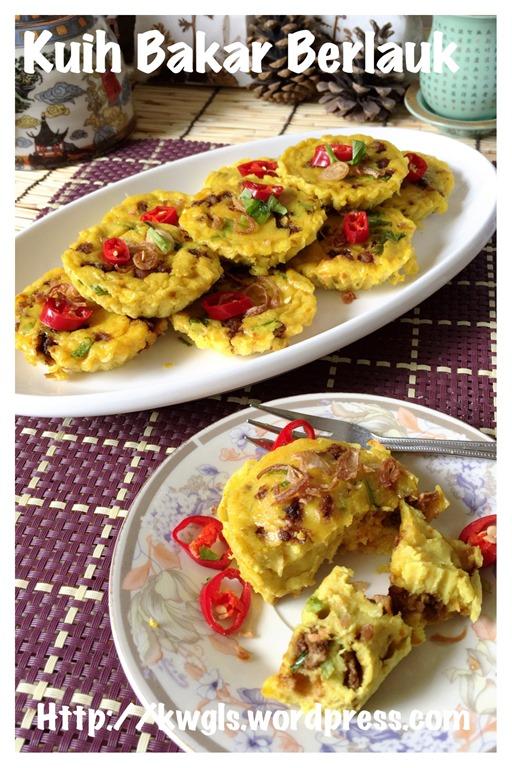Malay Savoury Custard Cake–Kuih Bakar Berlauk (马来咸香烤糕) | GUAI SHU SHU